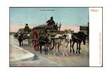 Napoli Campania Italien, Il Carro Della Farina, Kutsche Mit Mehl, Esel,Pferde Giclee Print