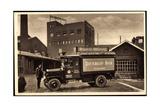 Düsseldorf, Lkw Mit Werbung Dietrich's Bier Impressão giclée