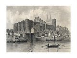 France, Paris, View of Castle in Angers Giclee Print