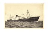 Messageries Maritimes, Navire Meinam, Dampfschiff Giclee Print