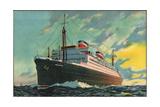 Künstler United States Lines, Dampfschiff Washington Giclee Print