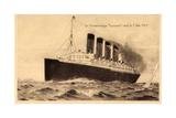 Cunard Line, Transatlantique Lusitania, 1915 Giclee Print