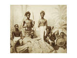 Eritrea, Eritrean Warriors with Spears, Bows and Shields, Circa 1880 Giclee Print