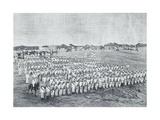 Italian Infantry Battalion in Moncullo Camp, 1886, Colonial Wars, Eritrea Giclee Print