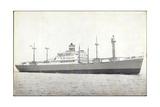 Dampfer S.S. Dinteldyk, Holland America Line Giclee Print