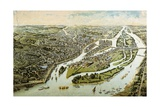 France, Nantes, View of the City, 1888 Giclee Print