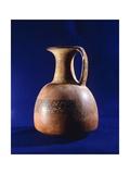 Pottery Jug Showing Geometric Decorations Originating from Peru Giclee Print
