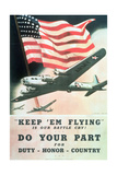 Do Your Part, US 2nd World War Poster, Anon, C.1942 Giclee Print