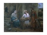 Jesus Helping St. Joseph in His Workshop, Church of St. Joseph, Nazareth, Israel Giclee Print