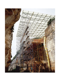 Prehistory, Paleolithic, Spain, Archaeologcal Site of Atapuerca, Railway Trench Giclee Print