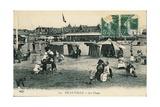 France, Deauville, Deauville Beach, Postcard Giclee Print