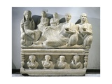 Funerary Relief Depicting a Family, from Palmyra, Syria Giclee Print