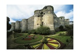 Chateau D'Angers on Marne River, Dating from 13th Century, Loire Valley, France Giclee Print