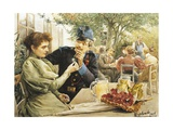 Austria, Vienna, Courting at a Viennese Coffee House Giclee Print
