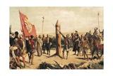 Don Juan De Garay Founding Buenos Aires in 1580 Giclee Print