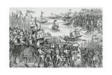 Landing of Crusaders at Damietta, May 1218 Giclee Print