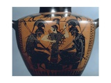 Black-Figure Pottery, Hydria Depicting Achilles and Ajax Playing Dice before Athena Wydruk giclee