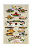 A Page from Mrs Beeton's Cookbook on Fish Giclée-Druck
