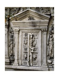 Reproduction of Decorated Door, Detail from Sarcophagus, Ancient Rome, Detail Giclee Print
