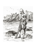 Robinson Crusoe on the Desert Island after Being Shipwrecked, from Adventures of Robinson Crusoe Giclee Print