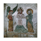 Baptism of Christ, 13th Century, Spain Giclee Print
