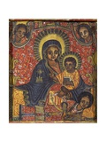 Enthroned Virgin with Child and Angels, Detail from Triptych. Ethiopia, 18th-19th Century Giclée-tryk
