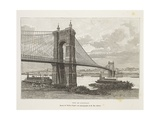 Usa, Cincinnati, Bridge over Ohio River from Nouvelle Geographie Universelle by Elisee Reclus Giclee Print