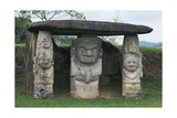 Colombia, Huila Department, San Agustin, Archeological Park, Dolmen with Caryatids Giclee Print