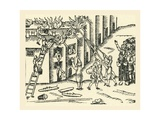 A 16th Century Fire Brigade at Work Giclee Print