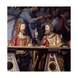 The Last Supper, Detail Showing Jesus Christ and Saint Thomas, 1532 Giclee Print