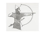 Assyrian Archer Wearing a Cuirass, from the Imperial Bible Dictionary, Published 1889 Giclee Print