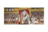 Meeting Between King Solomon and Queen of Sheba, Ethiopia Giclée-tryk