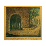 Spain. Barcelona. Sarria's Desert Monastery, Penance Grotto and Cross of the Plague Giclee Print