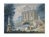The Garden of Versailles, Tempera Painting Giclee Print