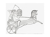 Egyptian War Chariot, from the Imperial Bible Dictionary, Published 1889 Giclee Print