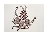 Pottery Design Depicting a Man-Crab, Artefact from Peru Giclee Print