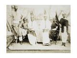 Eritrea, Otmulo, Chief Barambaras Kafel Photographed with His Family Giclee Print
