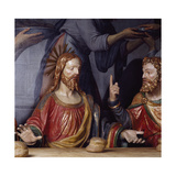 The Last Supper, Detail Showing Jesus Christ and Saint Thomas, 1531 Giclee Print