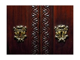 Escutcheon on Doors of Walnut Wardrobe with Farnese Family Coat of Arms, Italy Giclee Print