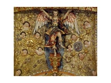 Angel Surrounded by Sun, Moon and Cherubs Giclee Print