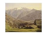 View of Lake of Hallstatt in Hutteneck Alps by Ferdinand G Waldmuller, 1838, Austria 19th Century Giclee Print