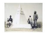 Eritrea, Fort Gazelle, Memorial Stone of Third Company of Fifth Battalion Africa Giclee Print