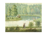 Swan Lake, 1881, Finland 19th Century Painting Giclee Print