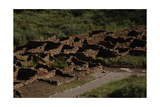 United States. Bandelier National Monument, Tyuonyi, Pueblo Indian Settlement Giclee Print