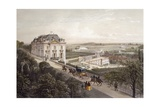 View from Upper Terrace at Meudon, France 19th Century Engraving Wydruk giclee