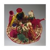 Nativity, Nativity Scene Made of Colored Straw, Ecuador Giclee Print