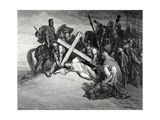 Jesus Reaches the Top of Calvary, Engraving, 19th Century Giclee Print