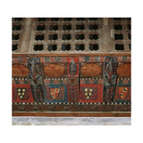 Chapel of Saint Roman. Paneled Wooden Ceiling, Detail, Spain Giclee Print