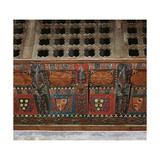 Chapel of Saint Roman. Paneled Wooden Ceiling, Detail, Spain Giclee Print