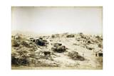 Campsite of First Regiment of African Hunters in Tamarisco Area, Eritrea Giclee Print
